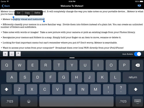 Meteor Notes Ipad
