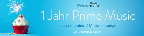 Amazon Prime Music 2 Millionen Songs