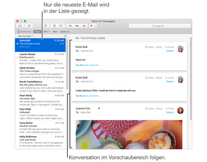Apple Mail Darstellung Nach Konversation