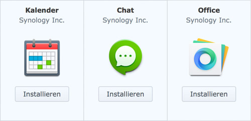 Synology Office Chat Kalender Apps