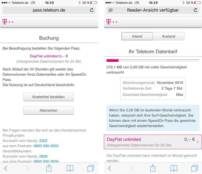 Telekom Lte Day Flat Iphone