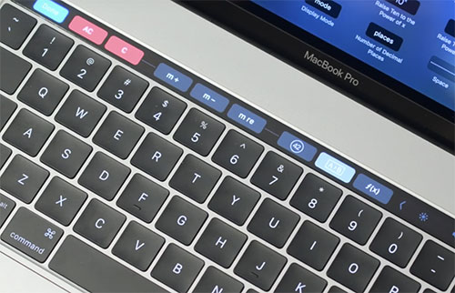 Touch Bar Tasten Pcalc