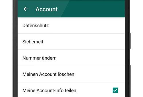 Whatsapp Meine Account Info Teilen