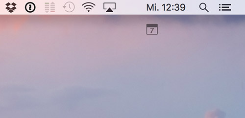 Mac Menueleiste Symbole