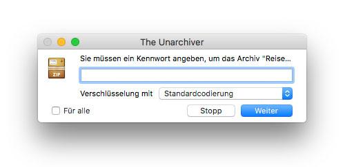 Passwort Abfrage Zip Datei