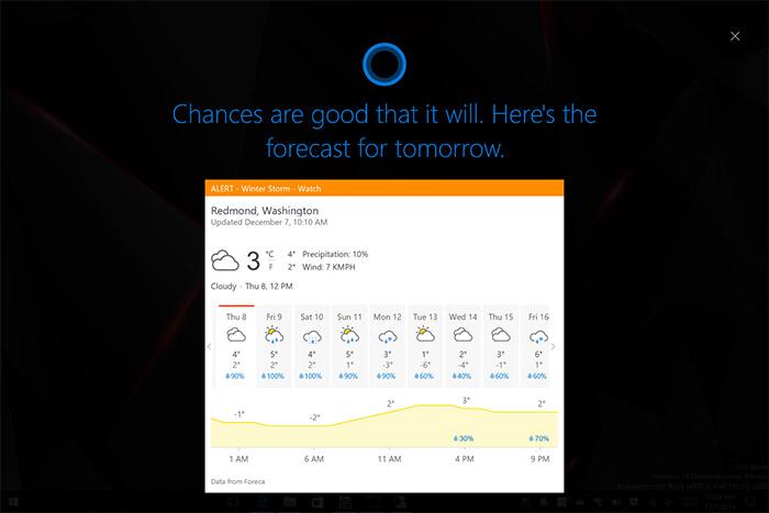 Windows 10 Cortana Wetter