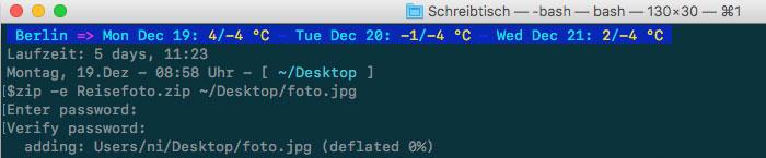 Zip Passwort Terminal Macos