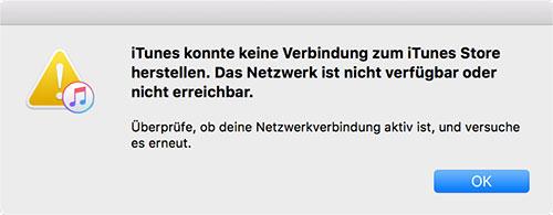 Itunes Keine Verbindung Zum Internet