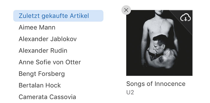 Itunes U2 Album Ausblenden