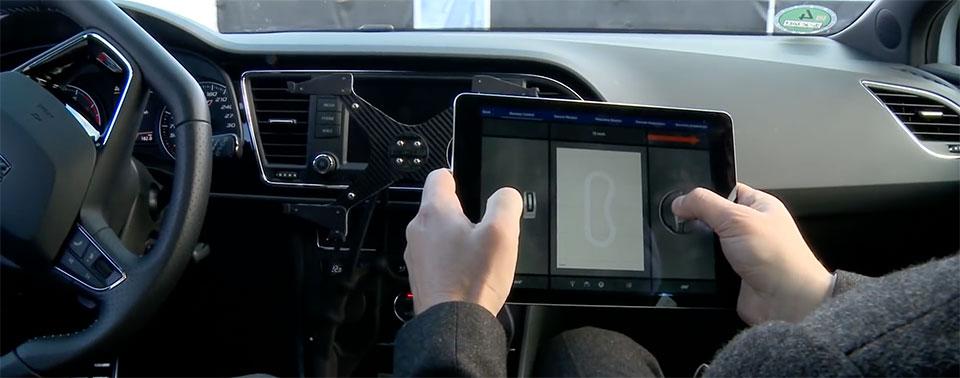 Technologie-Demo: Einen Seat mit dem iPad fahren