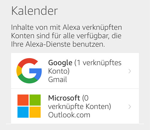 Amazon Alexa Outlook Kalender