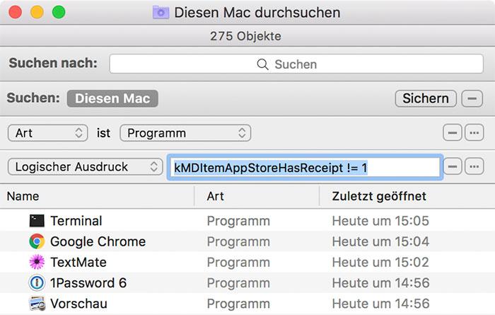 Finder Suche Gekauft Mac App Store