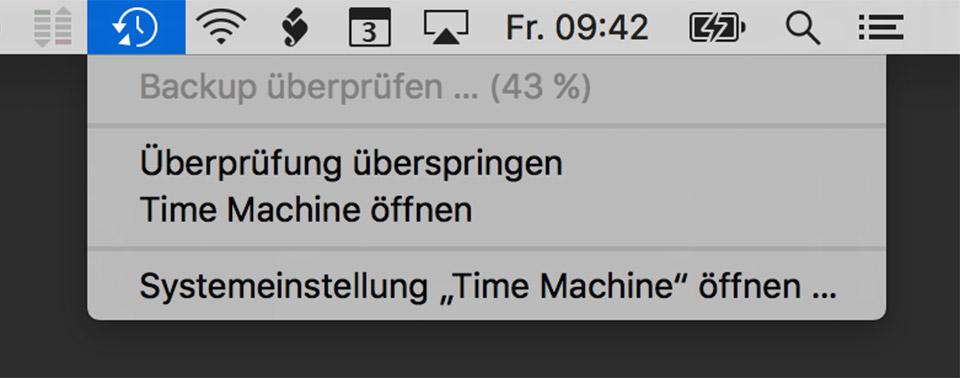 Time Machine-Backup mit externer Platte an der Fritz!Box