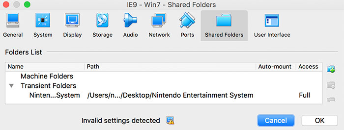 Nintendo Windows Ordner