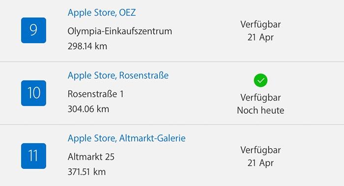 Apple Airpods Verfuegbarkeit
