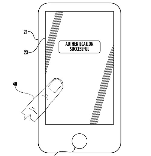 Apple Patent Fingerabdruck Scanner