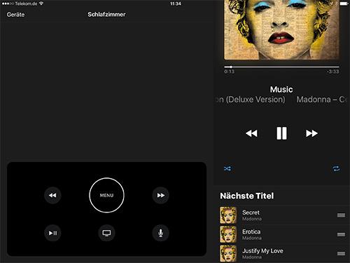 Apple Tv Remote Musik Steuerung