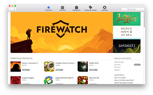 Mac App Store 500
