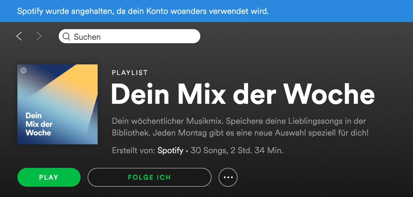 Spotify Mix Der Woche