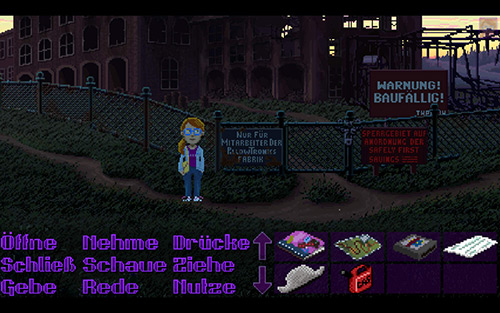 Thimbleweed Park Screenshot Deutsch