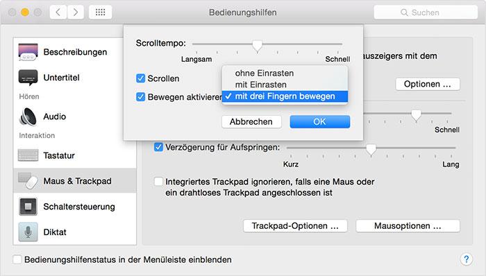 Mac Trackpad Drei Finger Bewegen