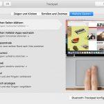 Mac Trackpad Einstellungen