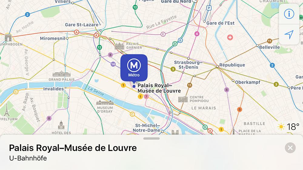 Ubahn Paris Karten App