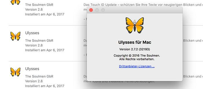 Ulysses Mac Problem
