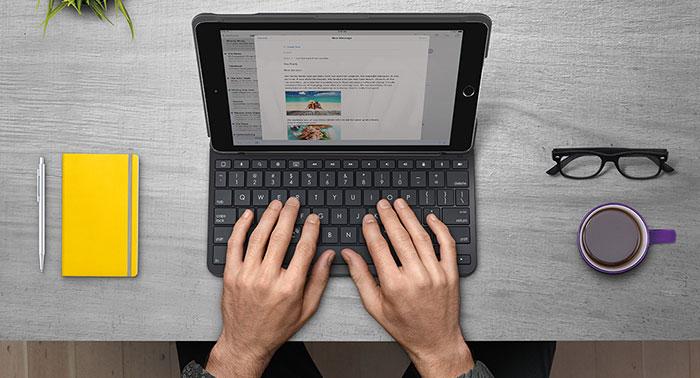 Ipad Tastatur Logitech Slim Folio