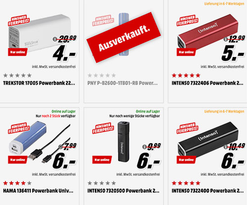 Powerbanks Media Markt