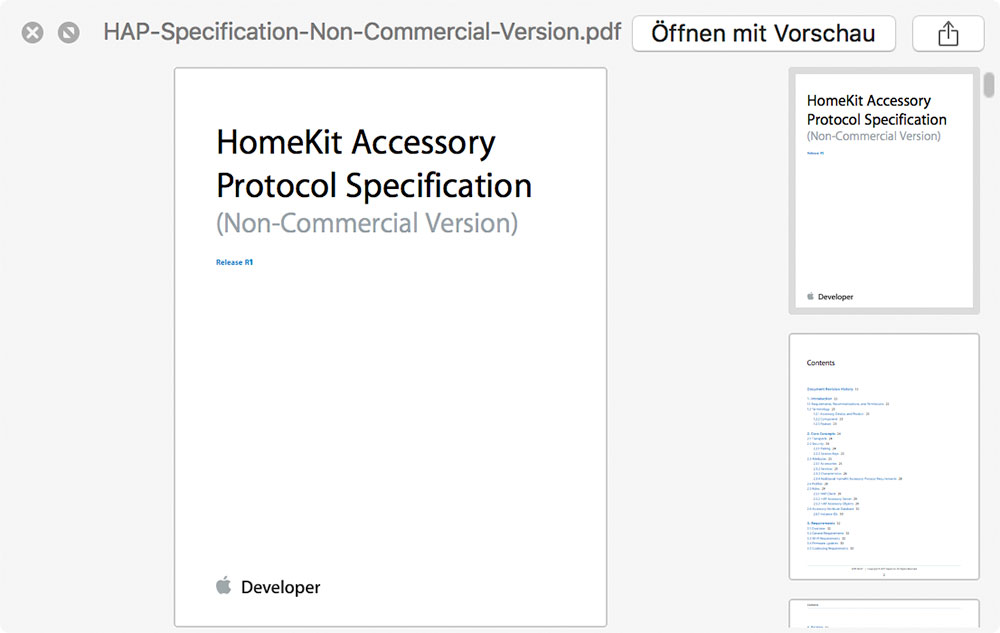 Homekit Spec