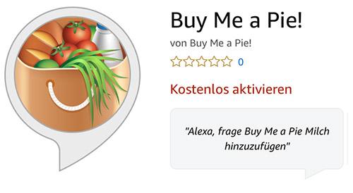 Buy Me A Pie Alexa Skill