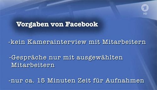 Facebook Auflagen