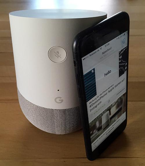 Google Home Groessenvergleich