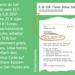 Lidl Bonus Code Itunes Karten