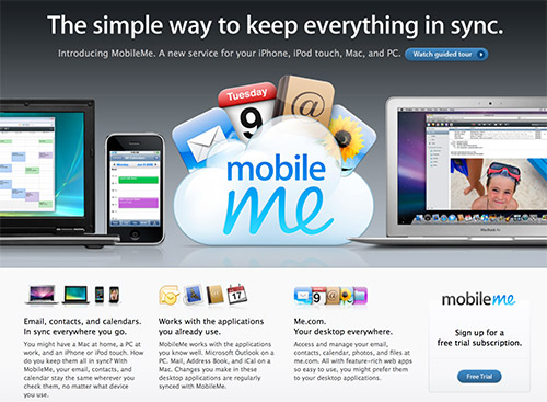 Mobileme Screenshot