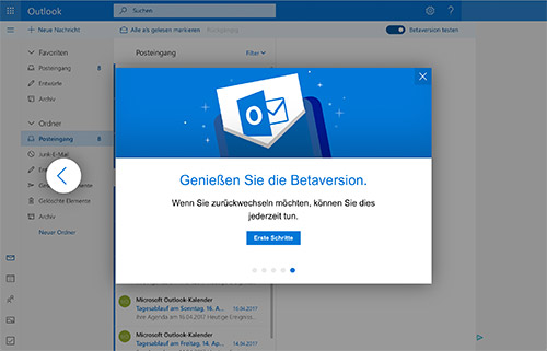 Outlook Web Beta Version