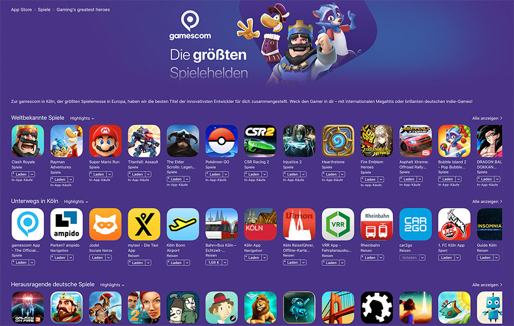 App Store Spiele