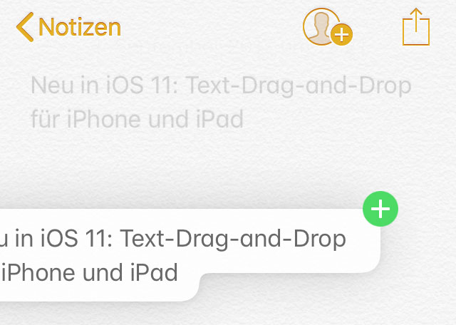 Neu in iOS 11: Text-Drag-and-Drop für iPhone und iPad