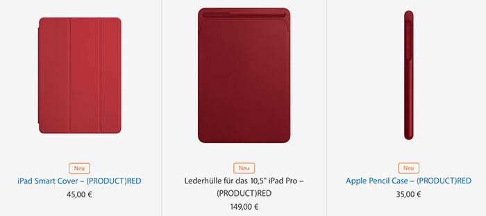 Ipad Product Red