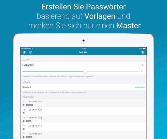 Master Passwort