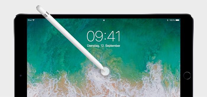 Mit Apple Pencil Bildschirm Antippen