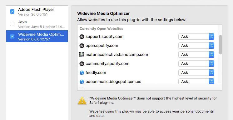 Spotify Web Player funktioniert mit Safari nicht mehr