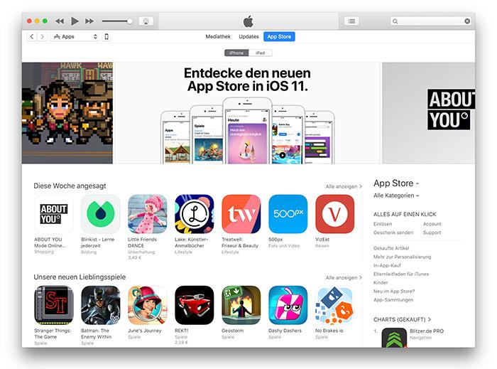iTunes 12 6 3 bringt den iOS App Store auf Mac und PC zurück