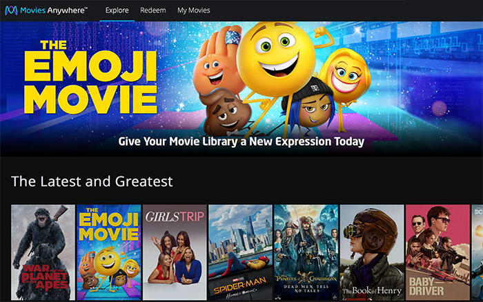 Movies Anywhere Startseite
