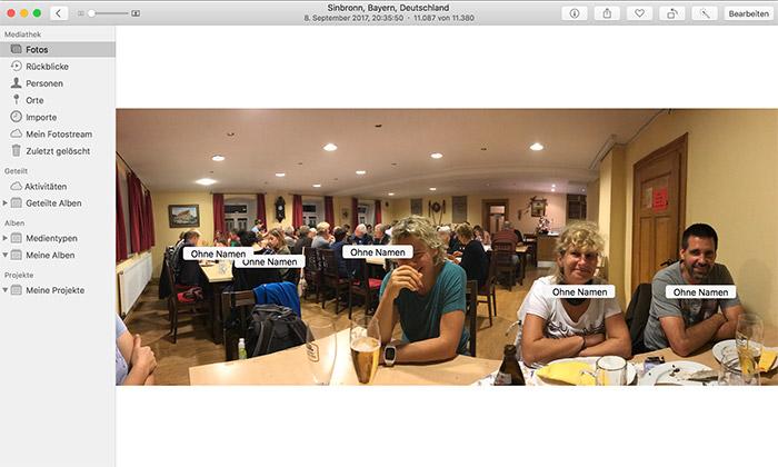 Personen Namen Vergeben Fotos Mac