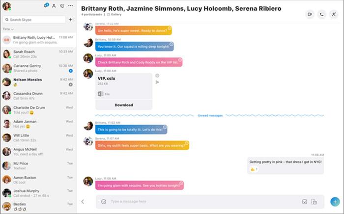 Skype Desktop Neu
