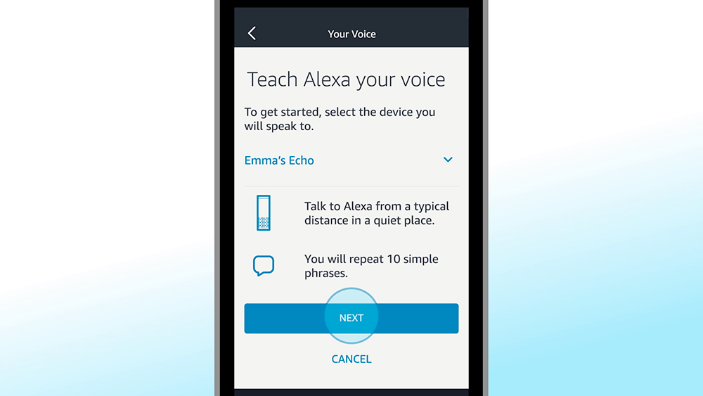 Teach Voice Alexa