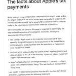 Apple Steuer Gegendarstellung