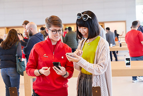 Apple Store Einkauf